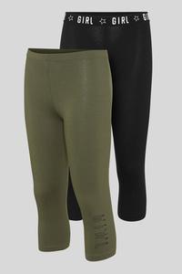 Capri-Leggings - Bio-Baumwolle - 2er Pack