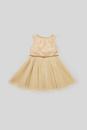 Bild 2 von C&A Kleid mit Gürtel-festlich, Beige, Größe: 128