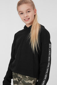 C&A Sweatshirt-Bio-Baumwolle-Glanz-Effekt, Rosa, Größe: 170/176