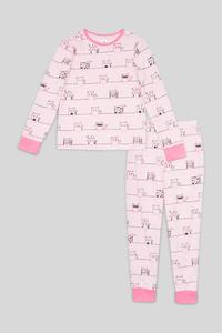 C&A Pyjama-Bio-Baumwolle-2 teilig, Rosa, Größe: 176