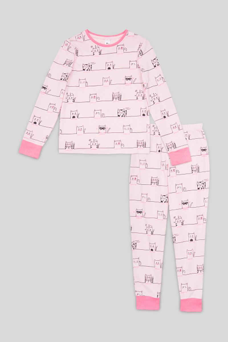 Bild 1 von C&A Pyjama-Bio-Baumwolle-2 teilig, Rosa, Größe: 176