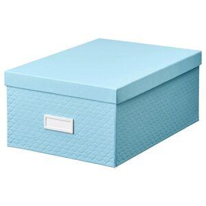PALLRA Kasten mit Deckel, hellblau