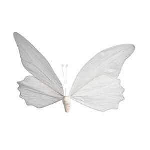 Schmetterling zum Hängen, L:50cm, weiß