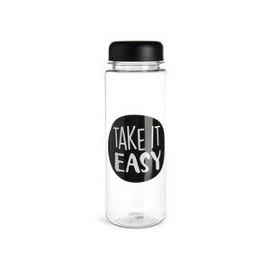 Trinkflasche Take it Easy, 500ml, schwarz