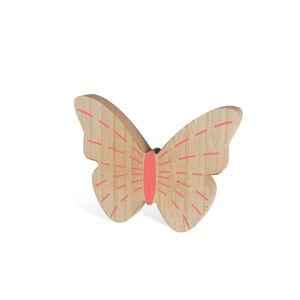 Dekofigur Schmetterling, 18x2x14cm, lachs