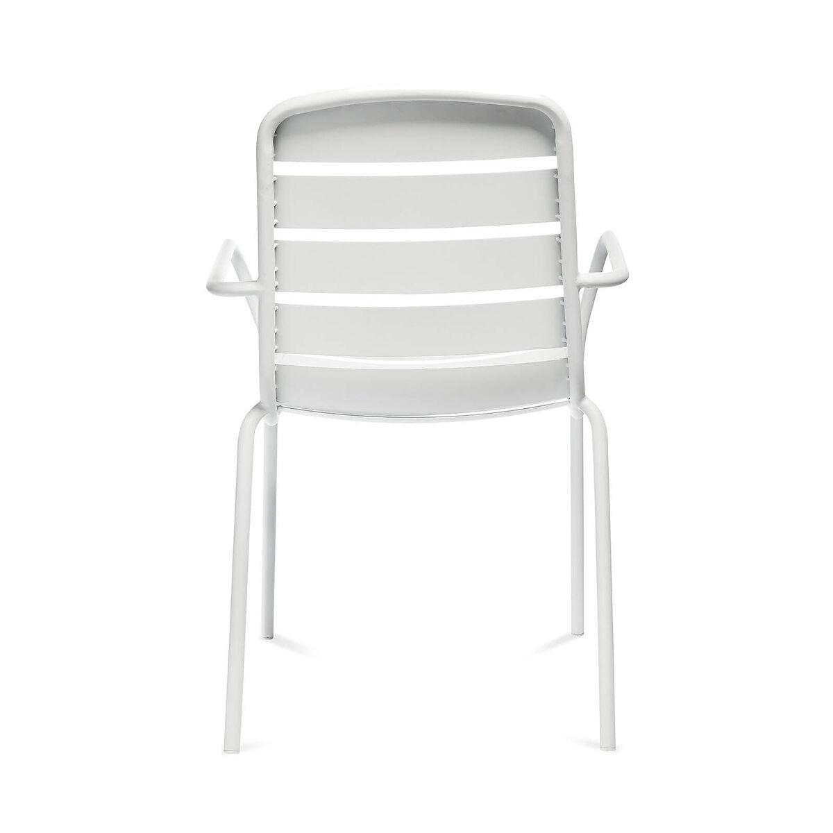 Bild 4 von Gartenstuhl mit Armlehnen, Aluminium, 56x63,5x84cm, weiß