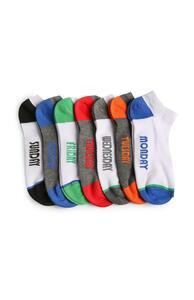 Socken mit Wochentagen, 7er-Pack