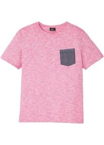 T-Shirt meliert mit Chambraytasche