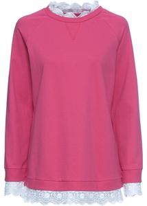 Oversize Sweatshirt mit Spitze