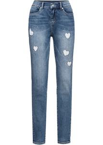 Jeans mit Spitzeneinsatz