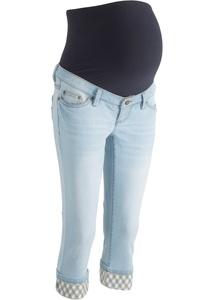 Umstands-Capri-Jeans mit kariertem Umschlag