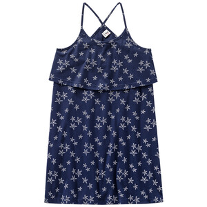 Mädchen Kleid mit Seestern-Allover