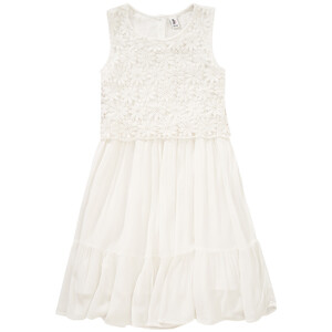 Mädchen Kleid mit floraler Spitze