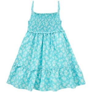 Mädchen Kleid mit gesmoktem Oberteil
