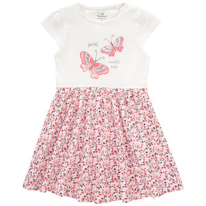 Mädchen Kleid mit floralem Motiv