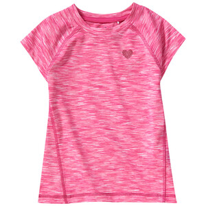 Mädchen Sport-T-Shirt in Melange-Optik