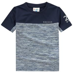Jungen Sport-T-Shirt im Melange-Look