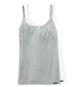 Skiny Unterhemd, 2er-Pack, Spaghetti-Träger, uni, für Damen