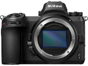 NIKON Z6 Gehäuse Kit  Systemkamera 24.5 Megapixel  , 8 cm Display   Touchscreen, WLAN