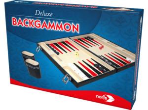 NORIS Deluxe Backgammon im Koffer Gesellschaftsspiel