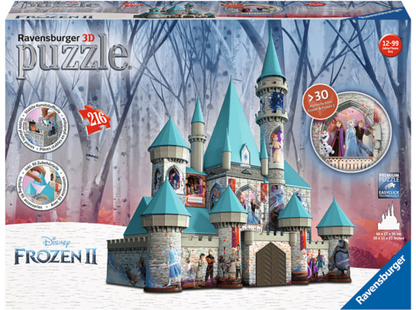 RAVENSBURGER Disney Frozen 2 Schloss 3D Puzzle-Bauwerke, Mehrfarbig