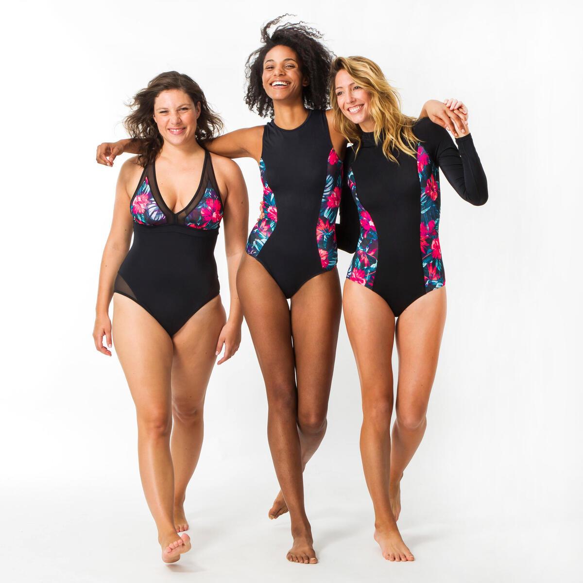Bild 3 von Badeanzug Carla Foamy bedeckende Form mit Back Zip Damen