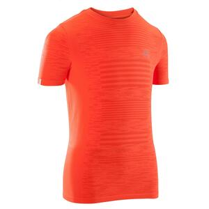 Laufshirt kurzarm Leichtathletik AT300 Skincare Kinder rot