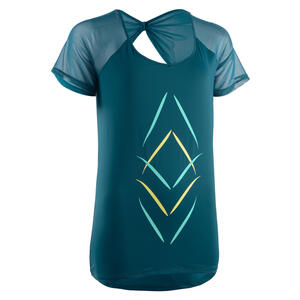 T-Shirt Fitness Dance Damen petrol