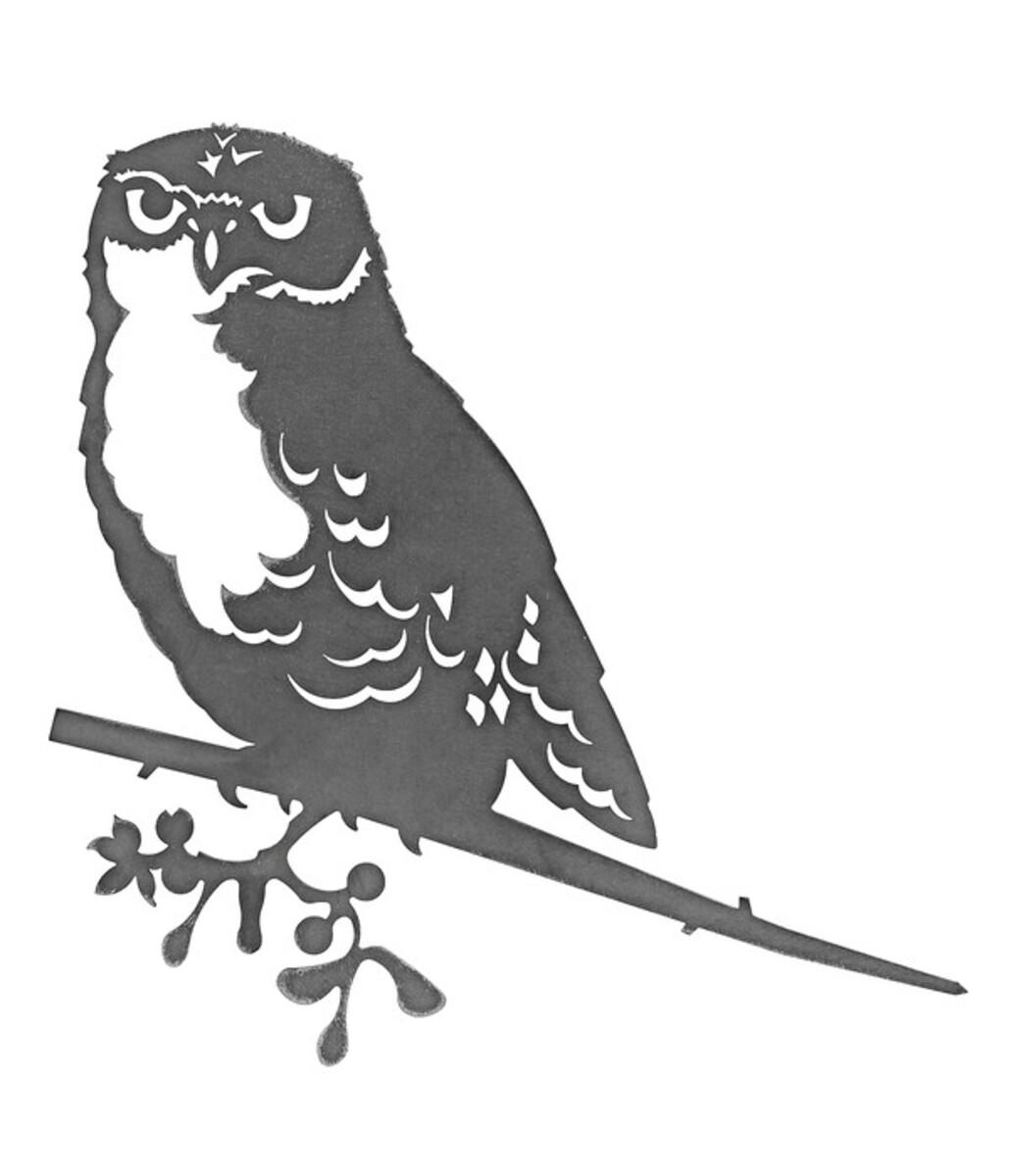 Bild 1 von Illumino Stahl-Baumstecker Glücksvogel Eule, ca. B28,3/H21 cm, rost