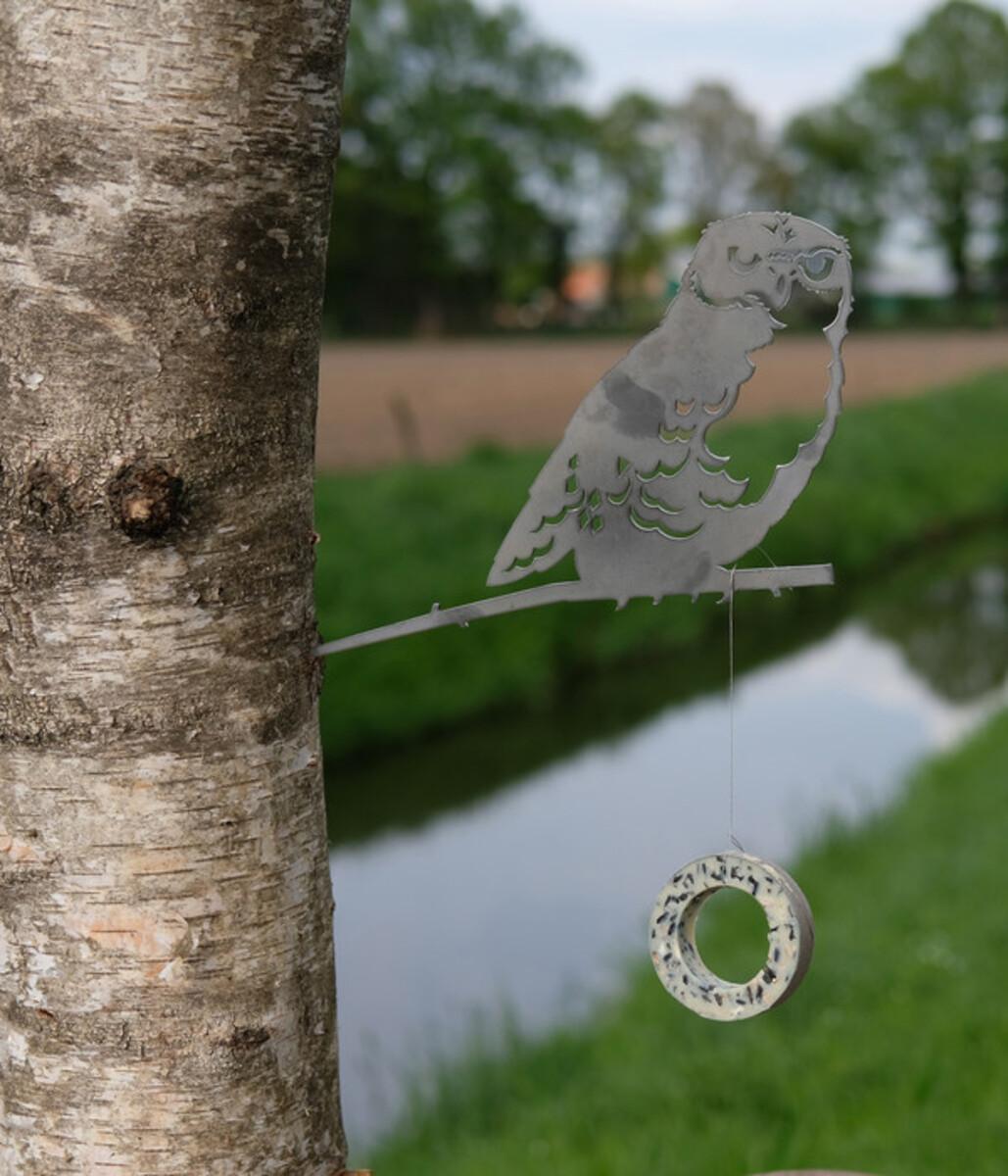 Bild 3 von Illumino Stahl-Baumstecker Glücksvogel Eule, ca. B28,3/H21 cm, rost
