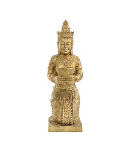 Dehner Polyresinfigur Thai Princess, 35 x 36 x 85 cm, gold