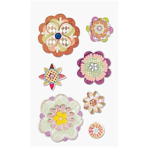 Paper Poetry 3D Sticker Blüten gemustert