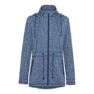 Damen-Strickfleece-Jacke in Melange-Optik