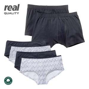 Damen- oder Herren-Unterwäsche 100 % Bio-Baumwolle, versch. Modelle und Größen, 2er-Pack/4er-Pack, ab 3 Packungen je