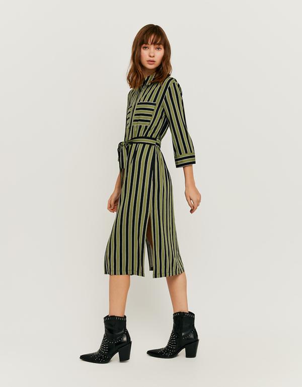 langes kleid mit gürtel von tally weijl für 15,99 € ansehen!