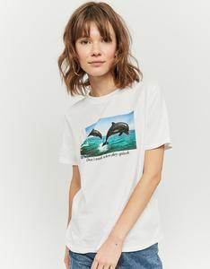 Weißes T-Shirt aus Bio-Baumwolle