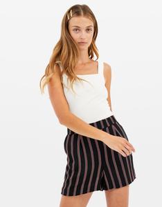Gestreifte, High Waist Shorts