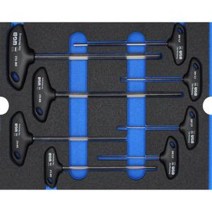 WGB MES blau Innensechskant-Schraubendrehersatz T-Griff 8tei