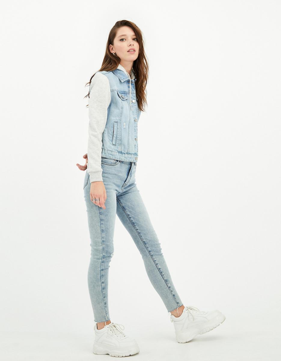 Bild 1 von Blaue Jeans Jacke mit Sweatshirt Style