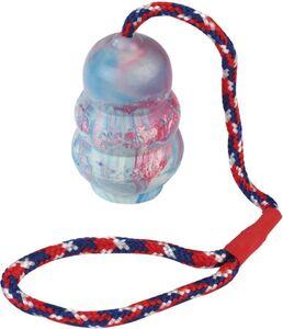 Hundespielzeug - Zugspielzeug mit Gummiknäuel - bunt