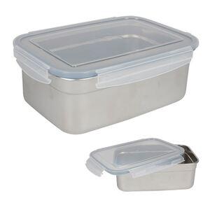 Edelstahl-Lunchbox mit Klickverschlussdeckel 1,8L