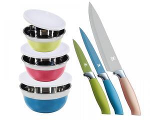 KING 6tlg. Vorteilsset inkl. Schüsseln und Messer