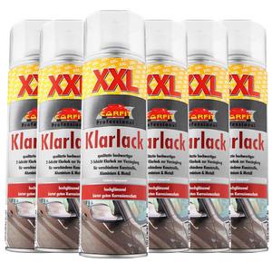 Carfit XXL Klarlack, Farblos - 6-er Set