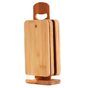 Kesper Bambus-Brettchenständer mit 6 Brettchen