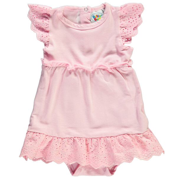 Baby Body-Kleid mit Spitzenapplikationen