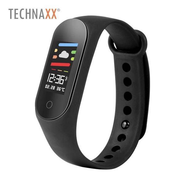 Fitness-Tracker TXHR6 • Farbdisplay • Schrittzähler, Schlafmonitor, • Smartphone-Benachrichtigungen • Pulsmessung • Wasserschutzklasse IP67