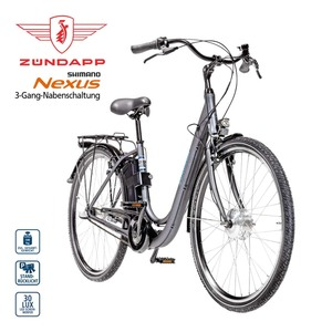 Alu-Elektro-Fahrrad Green 2.5 26er oder 28er • Fahrunterstützung bis ca. 25 km/h • Li-Ionen-Akku mit hochwertigen Markenzellen 36 V/6,6 Ah, 237 Wh • Reichweite: bis ca. 70 km (je nach Fahrweis