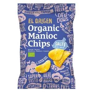 el origen Bio Maniok Chips mit Meersalz