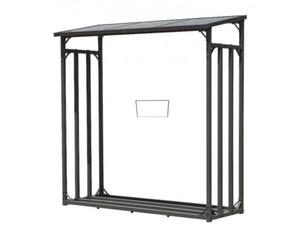 Kaminholz Lager ca. 130 x 60 x 150 cm und Box für Anmachholz mit Doppelstegplatten Regal Stapelhilfe Aussen
