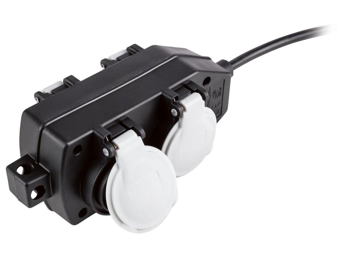 Bild 4 von PARKSIDE® Powerblock mit Verlängerung, 10 m Kabellänge, 3680 Watt, mit 4 Steckdosen